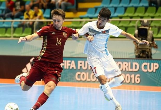 Vietnam se despidio de la Copa Mundial de futbol sala tras derrota ante Rusia hinh anh 1