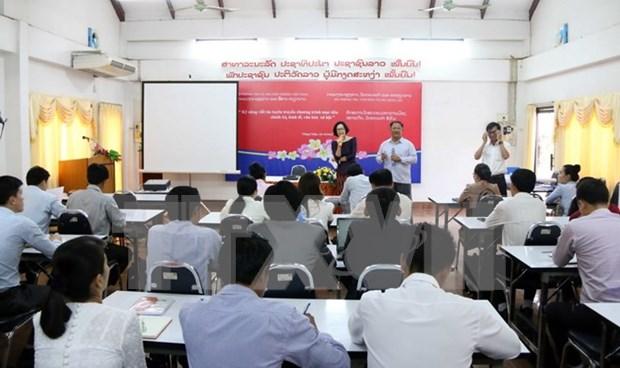 Vietnam y Laos fomentan cooperacion en gestion y formacion periodistica hinh anh 1