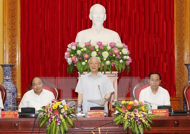 Buro Politico designa a miembros de Comite Central de Partido de policia de Vietnam hinh anh 1