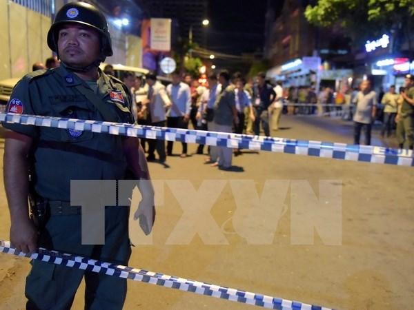 Detienen en Camboya a sospechosos por explosion en Phnom Penh hinh anh 1
