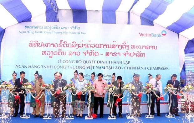 Vietinbank Laos abre sucursal en Champasak hinh anh 1