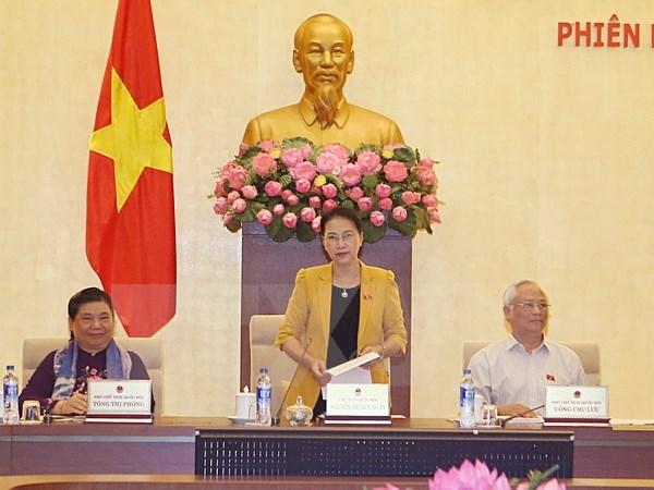 Concluye tercera sesion de Comite Permanente de Parlamento vietnamita hinh anh 1