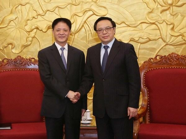 Delegacion del Partido Comunista de China visita Vietnam hinh anh 1