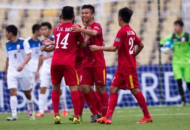 Futbol sub 16 de Vietnam avanza a cuartos de final de campeonato asiatico hinh anh 1