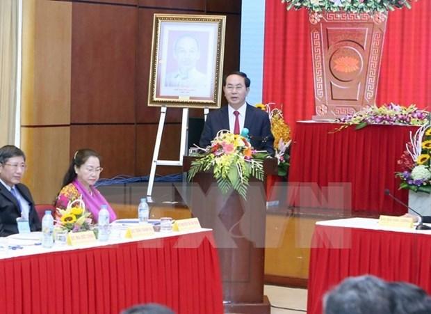 Presidente de Vietnam urge a reformar las actividades sindicales hinh anh 1