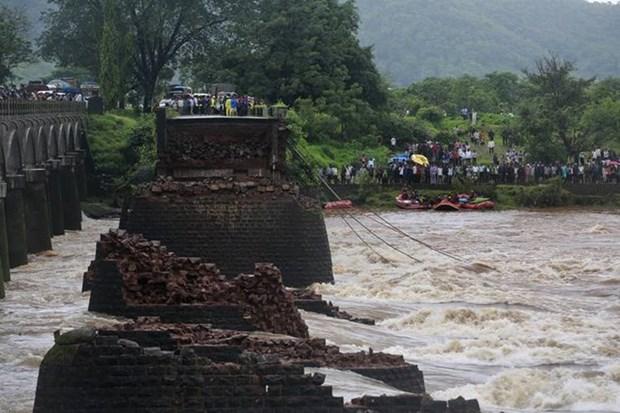Colapso de puente deja tres muertos en Indonesia hinh anh 1