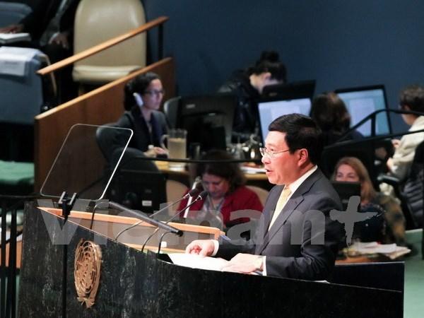 Vicepremier de Vietnam llama a promover multilateralismo hinh anh 1