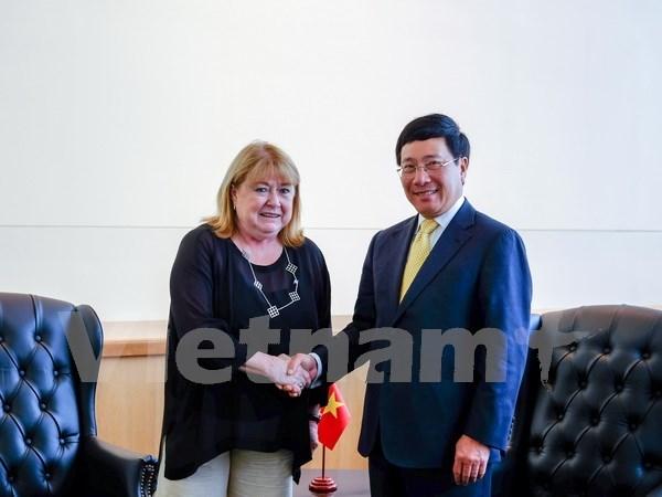 Vicepremier vietnamita cumple amplio programa de encuentros en Nueva York hinh anh 1