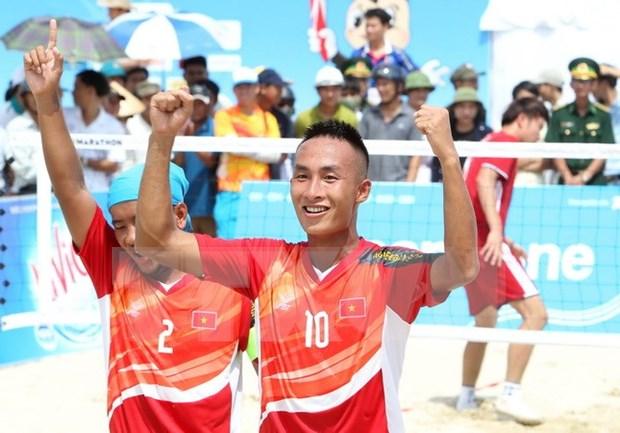 Vietnam obtiene tres oros en el dia inicial de Juegos Asiaticos de Playa hinh anh 1