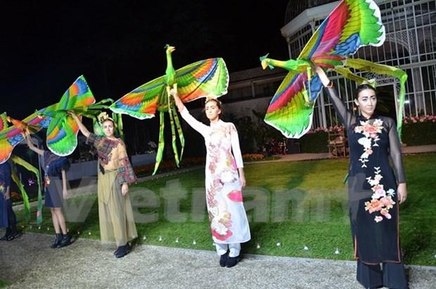 Brocado de Vietnam se presenta en capital de moda del mundo hinh anh 1