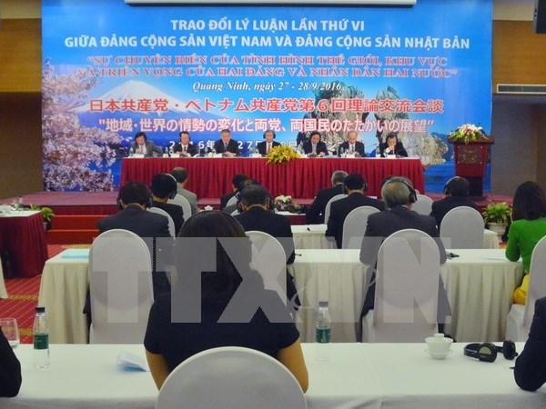 Efectuan sexto intercambio teorico entre Partidos Comunistas de Vietnam y Japon hinh anh 1