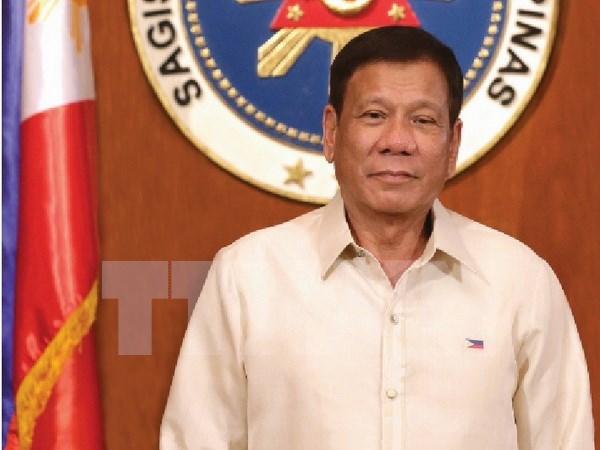 Presidente de Filipinas inicia visita a Vietnam hinh anh 1