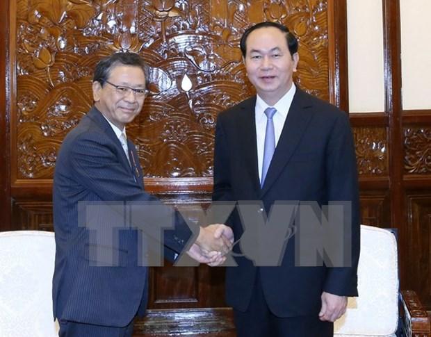 Presidente vietnamita ratifica politica de considerar a Japon como primer socio hinh anh 1