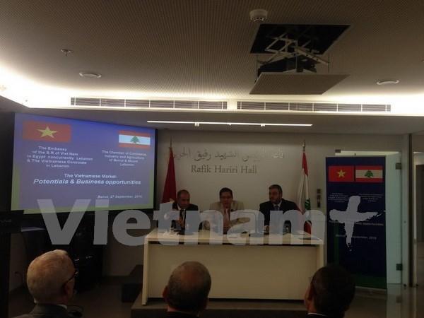 Presentan en El Libano oportunidad de negocios en Vietnam hinh anh 1