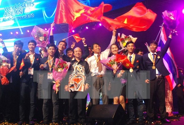 Ocupa Vietnam tercer lugar de concurso de habilidades de ASEAN hinh anh 1