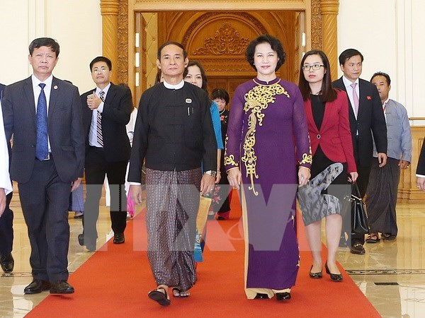 Presidenta del Parlamento vietnamita participa en reunion de AIPA en Myanmar hinh anh 1