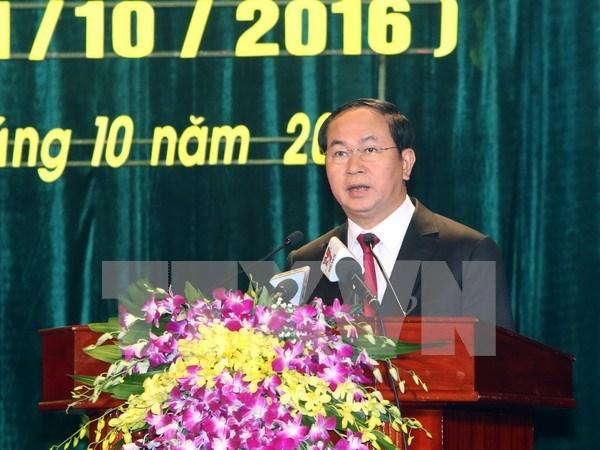 Presidente de Vietnam envia mensaje a AIPA-37 hinh anh 1
