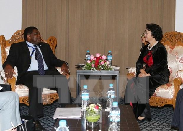 Presidenta de Parlamento de Vietnam recibe a secretario general de UIP hinh anh 1
