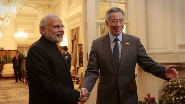 Primer ministro singapurense inicia visita a India hinh anh 1