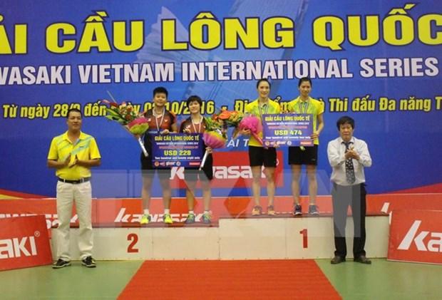 Vietnam logra tres medallas de oro en torneo internacional de badminton hinh anh 1