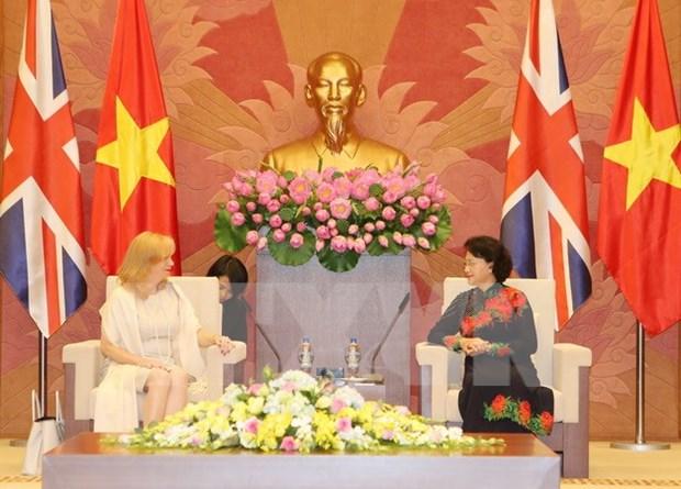 Presidenta del legislativo de Vietnam recibe a dirigente parlamentaria britanica hinh anh 1