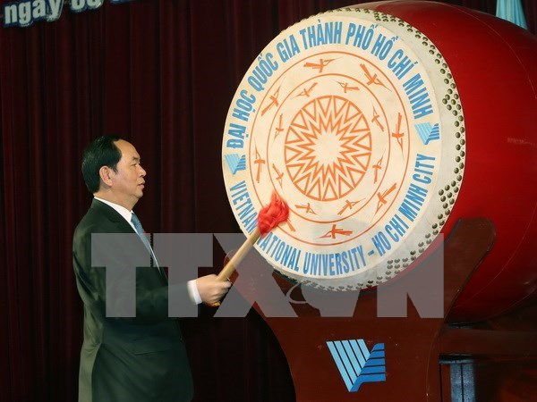 Presidente urge a Universidad Nacional de Ciudad Ho Chi Minh a ser centro de talento hinh anh 1