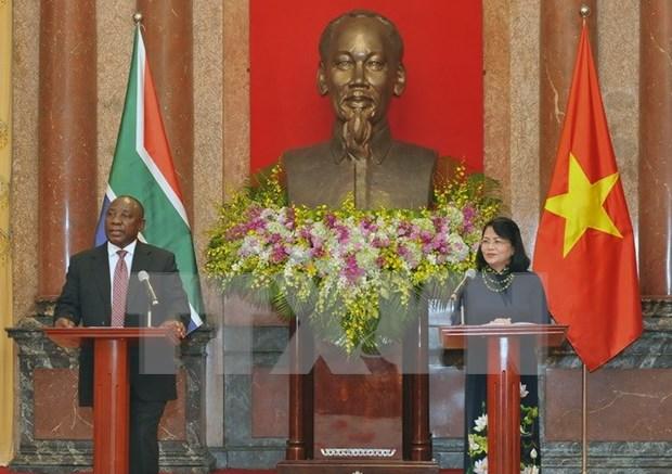 Evaluan Sudafrica y Vietnam potencialidades de cooperacion economica hinh anh 1