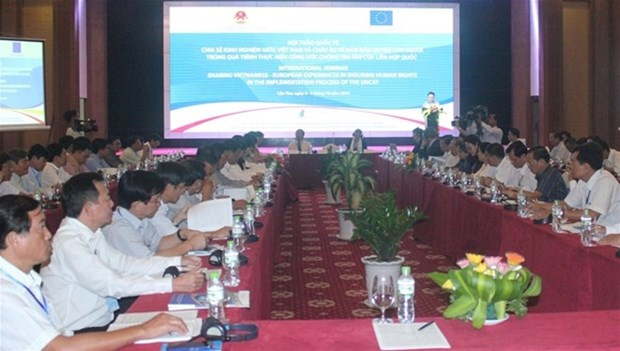 Vietnam y UE comparten experiencias en garantia de derechos humanos hinh anh 1