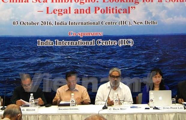 Eruditos analizan en India situacion compleja en el Mar del Este hinh anh 1