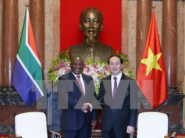 Vietnam busca desarrollar todo tipo de cooperacion con Sudafrica, dijo presidente hinh anh 1