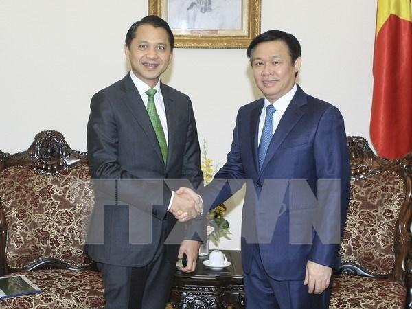 Vicepremier de Vietnam recibe a presidente de banco tailandes Kasikornbank hinh anh 1