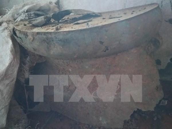 Descubren tambor de bronce de dos mil anos en Vietnam. hinh anh 1