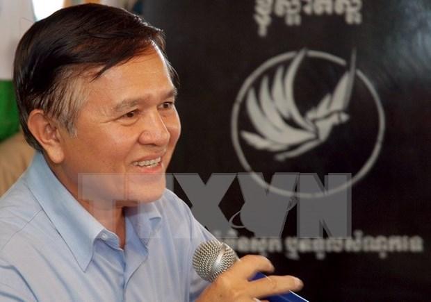 Registra presidente en funciones de CNRP de Camboya en lista de electores hinh anh 1