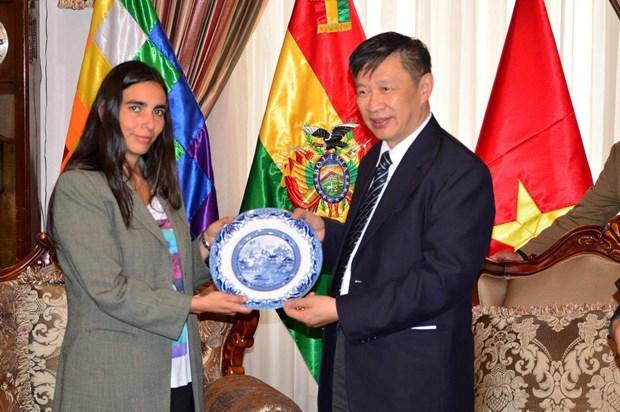 Delegacion del Partido Comunista de Vietnam visita Bolivia hinh anh 1