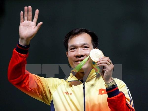 Hoang Xuan Vinh mantiene primer lugar en ranking mundial de pistola de aire hinh anh 1