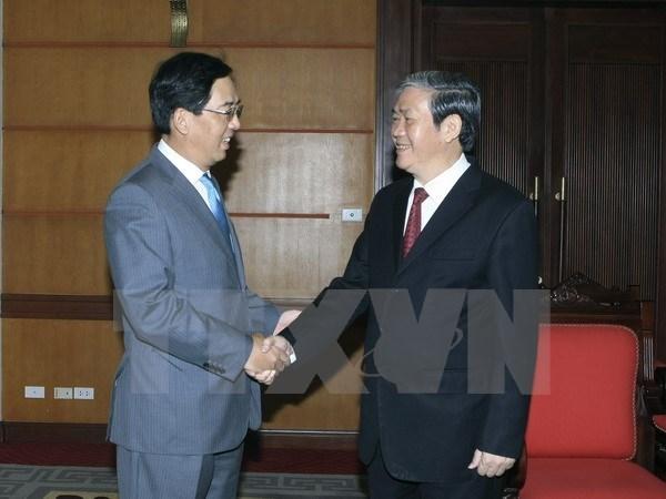 Dirigente partidista de Vietnam recibe al embajador chino hinh anh 1