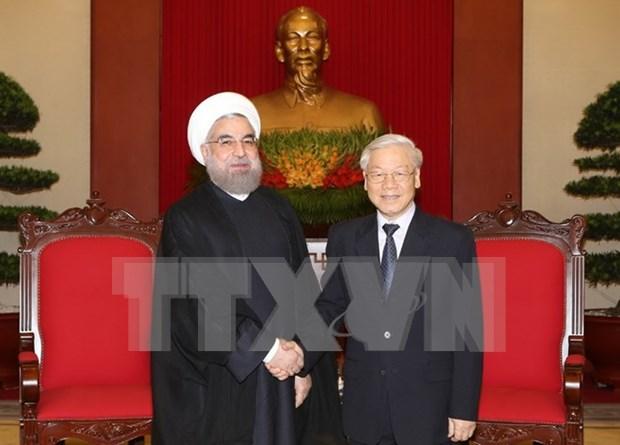 Partido Comunista de Vietnam concede importancia a relaciones tradicionales con Iran hinh anh 1