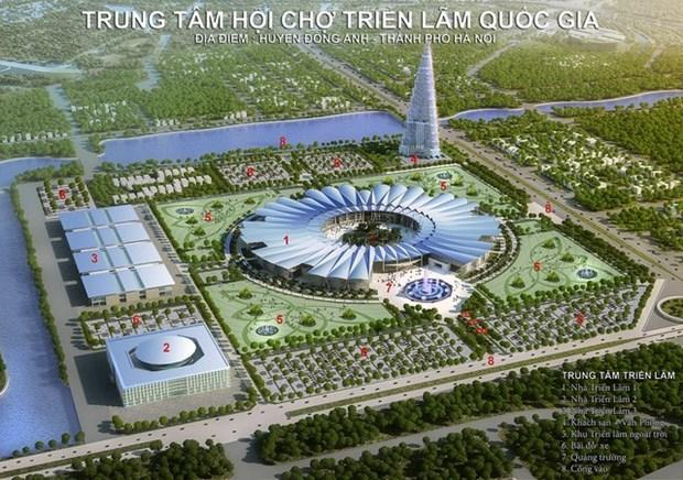 Construyen mayor centro de exhibiciones en Hanoi hinh anh 1