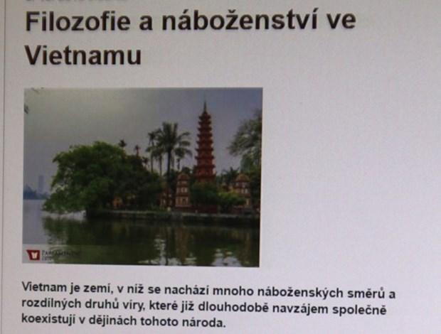 Periodico checo alaba politica relativa a asuntos religiosos en Vietnam hinh anh 1