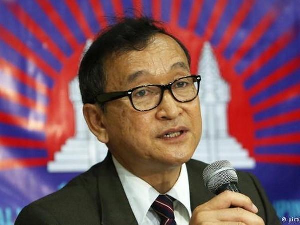 Fiscalia de Camboya cita al lider opositor Sam Rainsy hinh anh 1