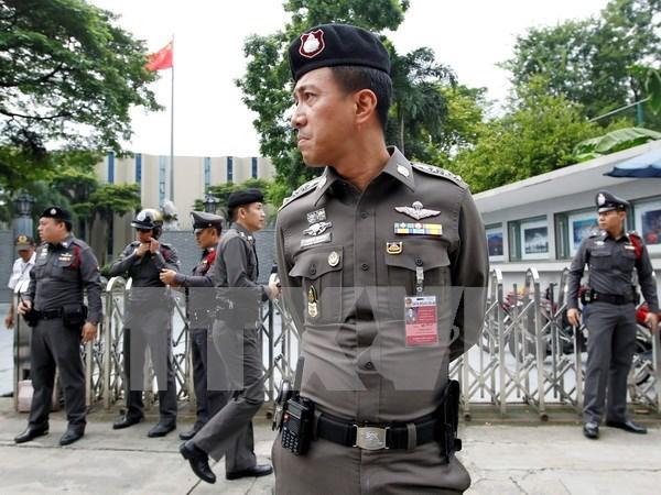 Policia de Tailandia registra nueve sitios sospechosos en Bangkok hinh anh 1