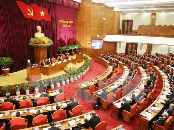Partido Comunista de Vietnam discute plan de fomento de sus filas hinh anh 1