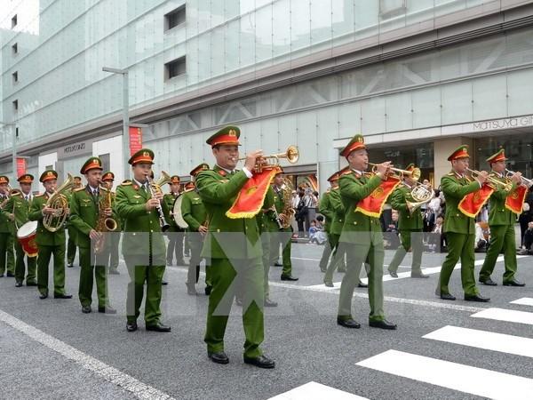 Vietnam participa en concierto mundial de la policia en Japon hinh anh 1
