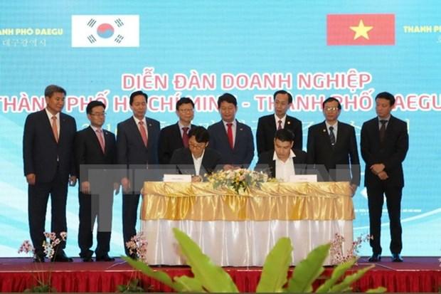 Foro empresarial promueve comercio entre ciudades vietnamita y sudcoreana hinh anh 1