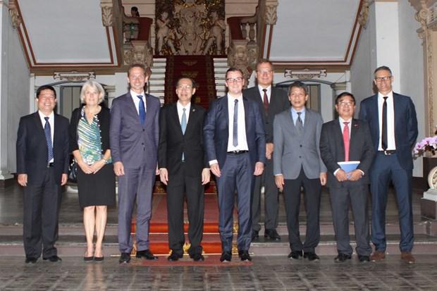 Canciller de Dinamarca visita Ciudad Ho Chi Minh para impulsar cooperacion economica hinh anh 1