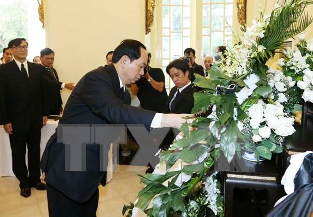 Presidente vietnamita rinde tributo al difunto rey tailandes hinh anh 1