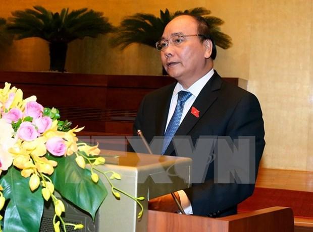 Premier de Vietnam presenta informe socioeconomico ante Parlamento hinh anh 1