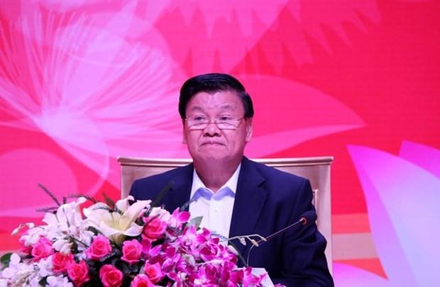 Premier de Laos dialoga por primera vez con empresarios vietnamitas hinh anh 1