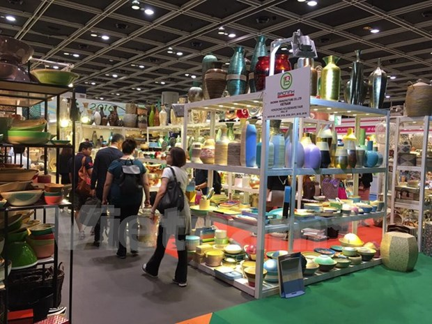 Sobresalen productos artesanales vietnamitas en feria en Hongkong hinh anh 1
