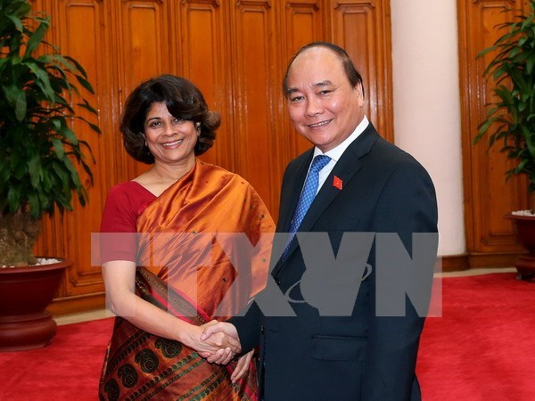 Primer ministro de Vietnam recibe a saliente coordinadora residente de ONU hinh anh 1